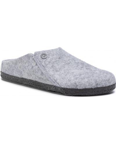 Sandały skórzane - szare Birkenstock