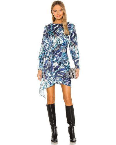 Асимметричное синее платье с драпировкой Kendall + Kylie