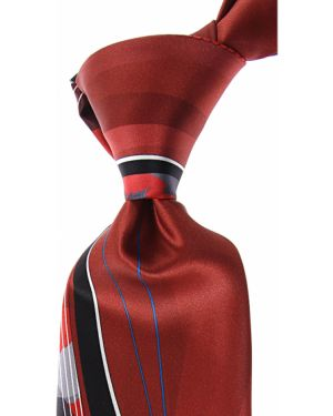 Czarny krawat z jedwabiu Pancaldi