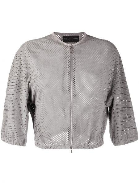 Куртка на молнии с перфорацией Fabiana Filippi
