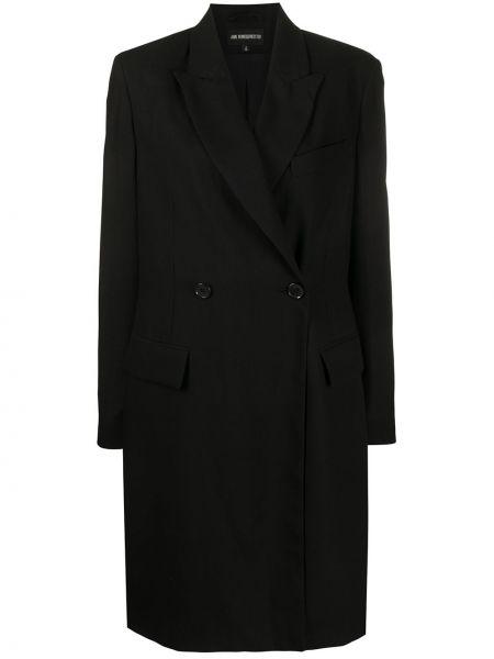 Шерстяное пальто с запахом Ann Demeulemeester
