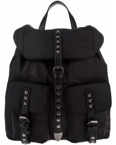 Черный текстильный рюкзак Love Republic