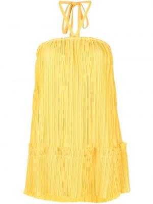 Плиссированный желтый топ с вырезом Bambah