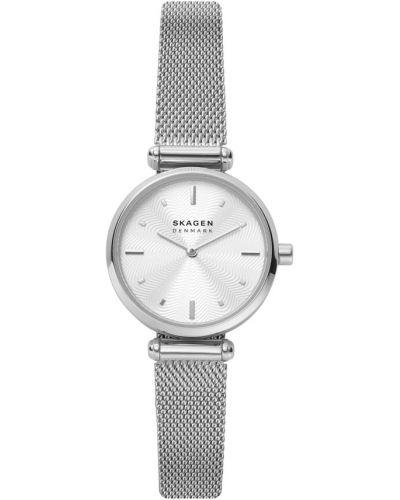 Biały zegarek srebrny Skagen