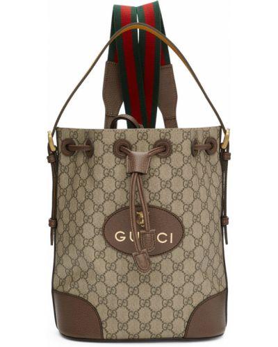 Plecak skórzany - biały Gucci