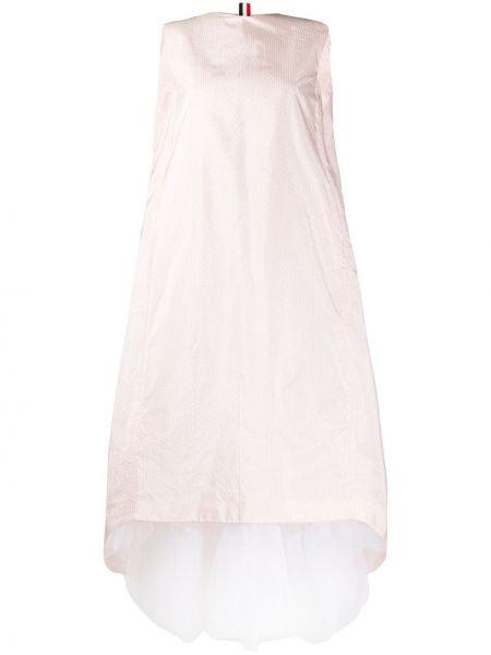 Sukienka mini chudy bez rękawów Thom Browne