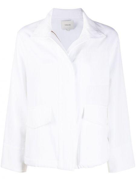 Белая куртка милитари на молнии Vince