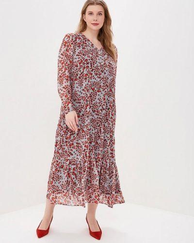 Повседневное платье весеннее серое Zizzi