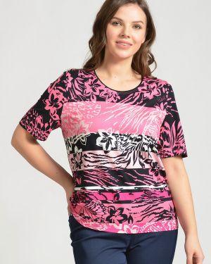 Футбольная розовая футболка из вискозы Lebek