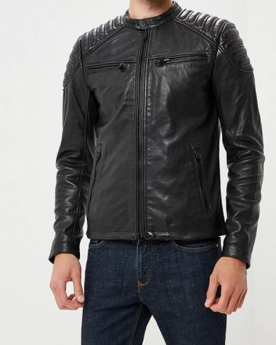 Кожаная куртка черная осенняя Superdry
