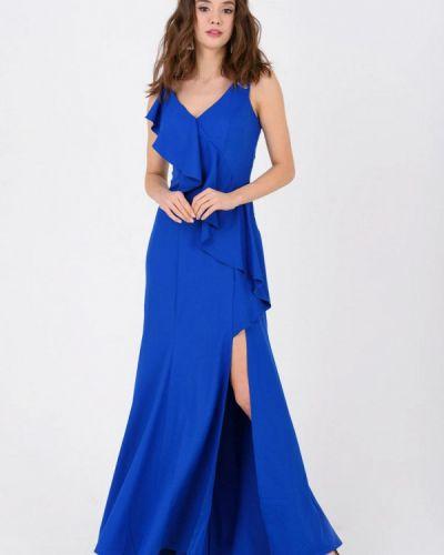 Вечернее платье весеннее синее Ricamare