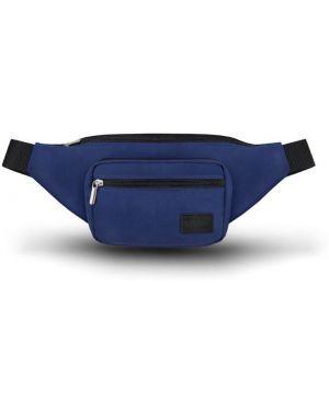 Niebieska torebka duża materiałowa oversize Solier