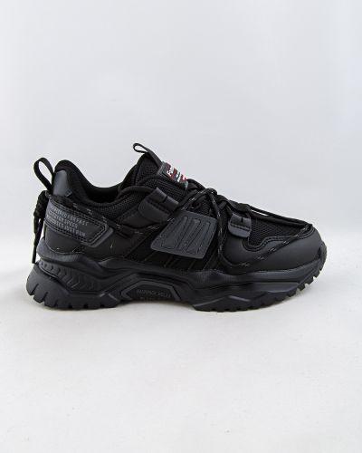 Черные текстильные кроссовки Baas