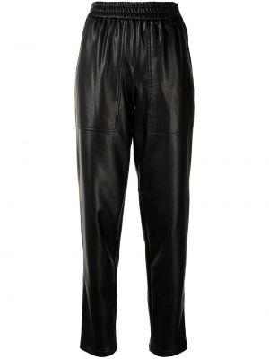 Czarne spodnie skorzane Tibi