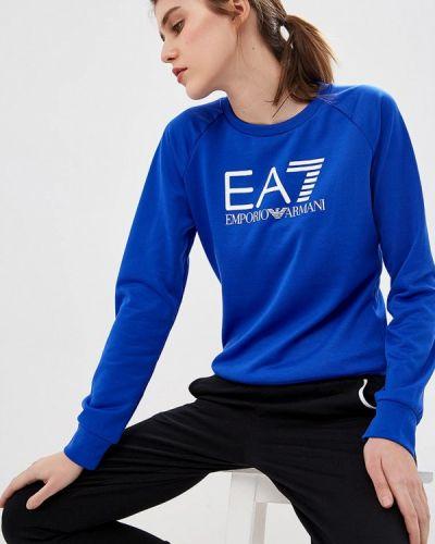 Синий свитшот Ea7