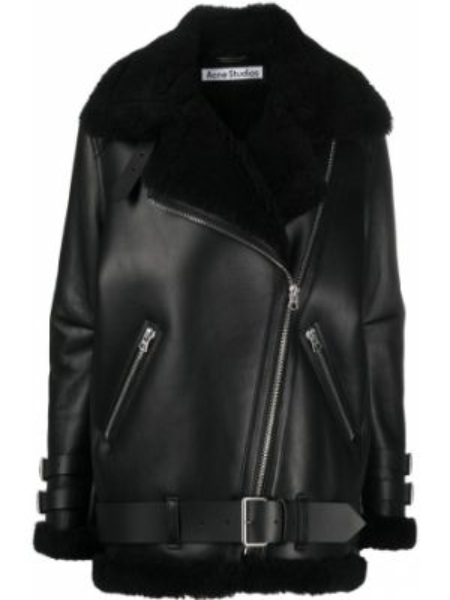 Długi płaszcz skórzany - czarny Acne Studios