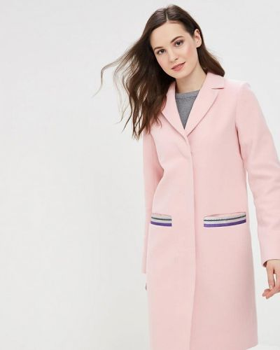Пальто демисезонное розовое Grand Style