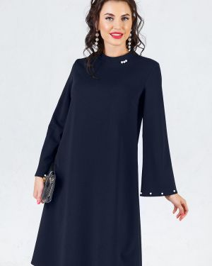 Вечернее платье длинное - синее Taiga
