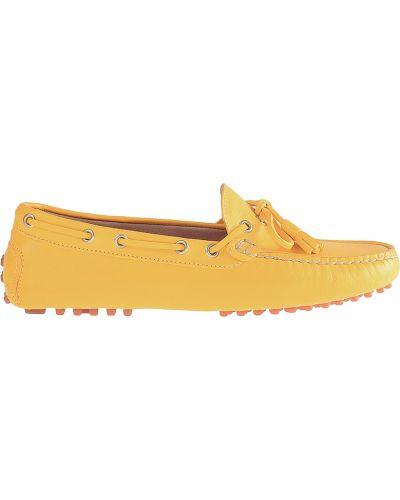 Кожаные мокасины - желтые Stokton