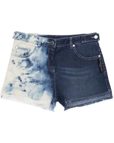 Синие джинсовые шорты с карманами Givenchy