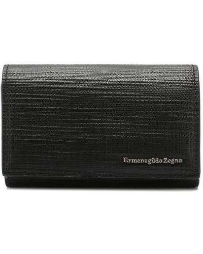 Ключница кожаная черный Ermenegildo Zegna