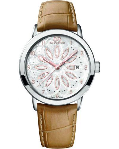 Водонепроницаемые часы на кожаном ремешке кварцевые 88 Rue Du Rhone