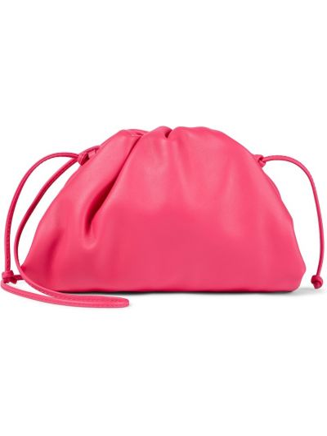 Kopertówka skórzana - różowa Bottega Veneta