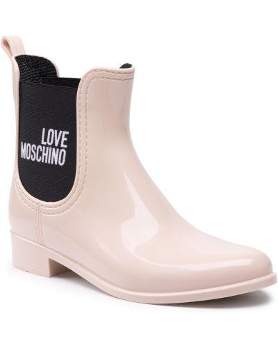 Różowe kozaki zimowe Love Moschino