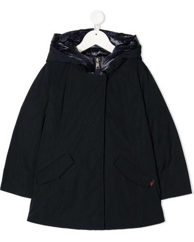 Черная пуховая куртка с перьями с капюшоном Woolrich Kids