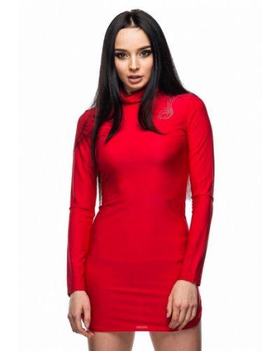 Платье осеннее красный 0101 Brand