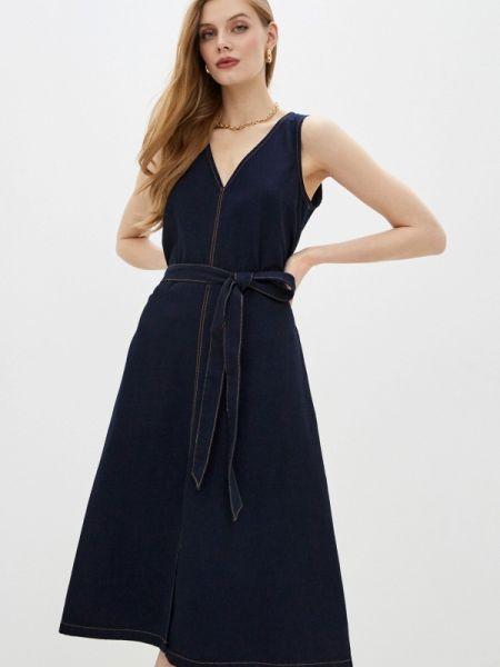 Повседневное платье французский синее French Connection