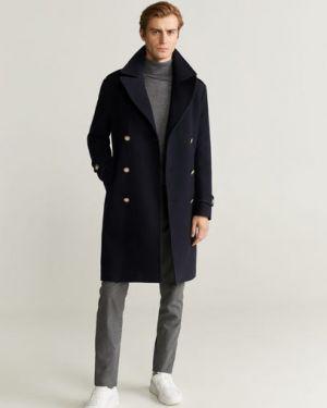 Длинное пальто двубортное с лацканами Mango