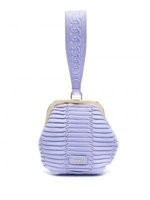 Fioletowa torebka skórzana pikowana Pinko