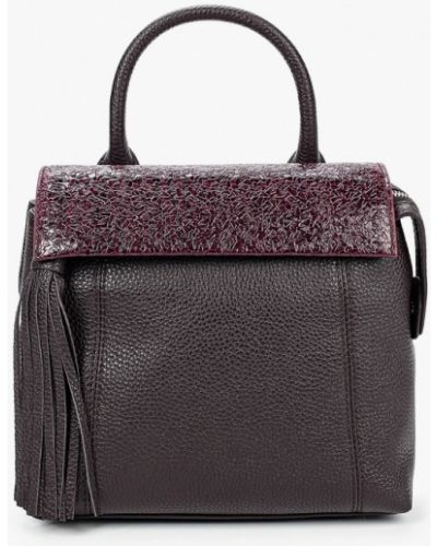 Фиолетовая сумка из натуральной кожи Eleganzza