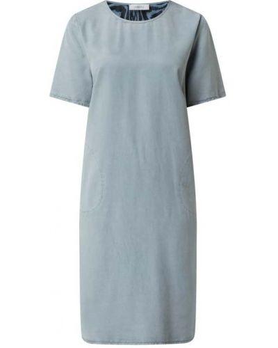 Sukienka rozkloszowana krótki rękaw - niebieska Blonde No. 8