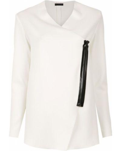 Белое пальто с капюшоном Osklen