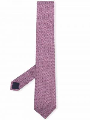 Krawat z printem - biały Salvatore Ferragamo