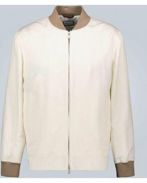 Утепленная куртка легкая льняная Brunello Cucinelli