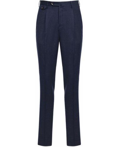 Niebieskie spodnie wełniane Pantaloni Torino
