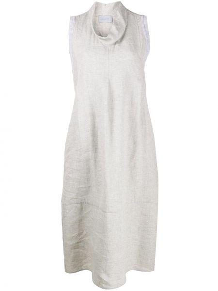 Платье миди с карманами с рукавами Malo