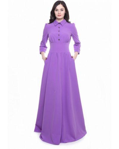 Платье макси осеннее фиолетовый Olivegrey