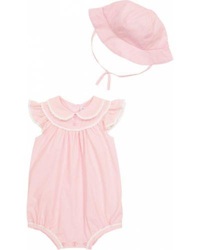 Różowy kombinezon bawełniany Rachel Riley