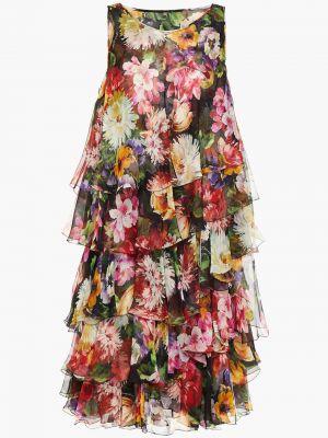 Облегченное шифоновое платье на крючках Dolce & Gabbana