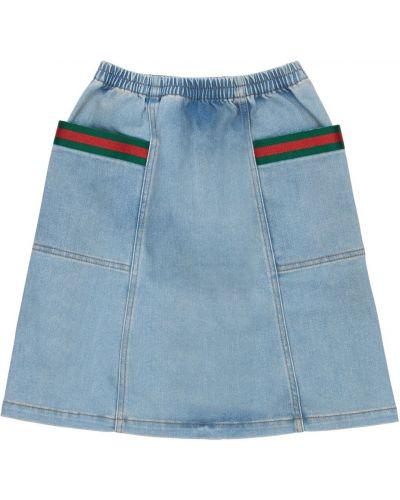 Bawełna bawełna niebieski jeansy z kieszeniami Gucci