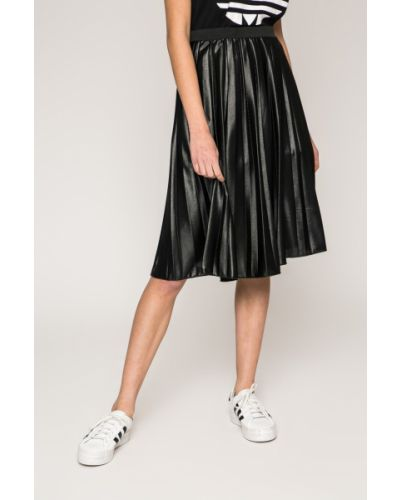 Плиссированная юбка кожаная с завышенной талией Haily's
