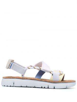 Białe sandały skorzane płaska podeszwa Camper