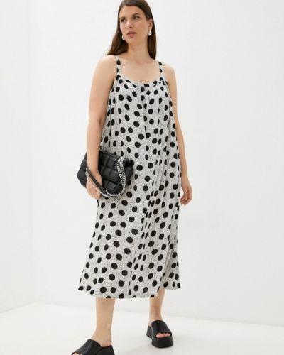 Серое весеннее платье Marks & Spencer