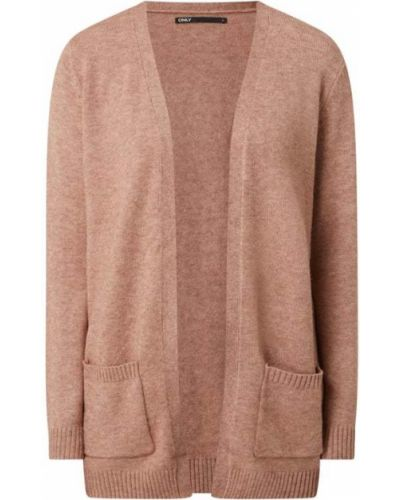 Różowy sweter bez zapięcia Only