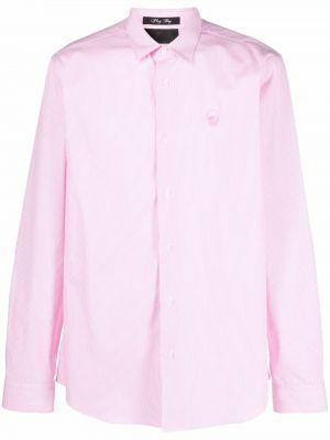 Różowa koszula z długimi rękawami Philipp Plein