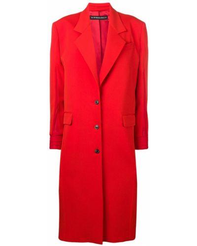 Длинное пальто с капюшоном на пуговицах узкого кроя Y/project